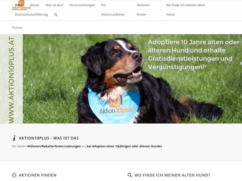 Screenshot von http://www.aktion10plus.at/
